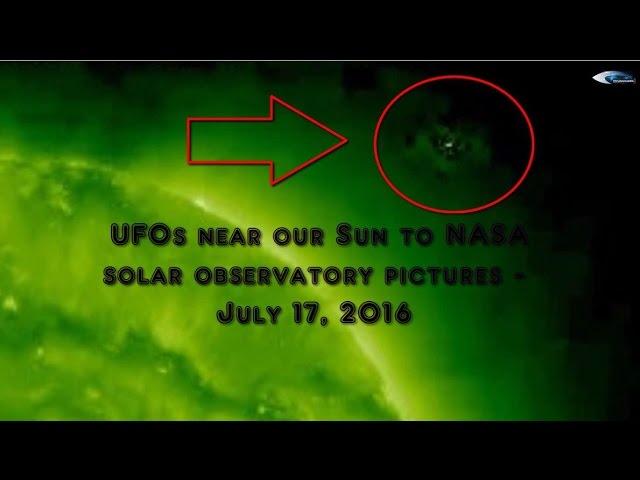 НЛО у Солнца 17 июля 2016