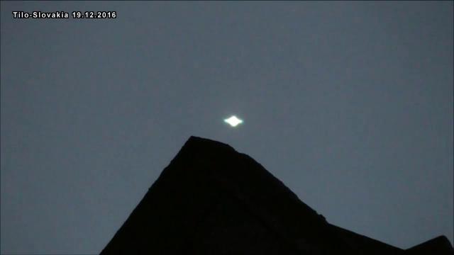 Плазменный НЛО над горой в Словакии