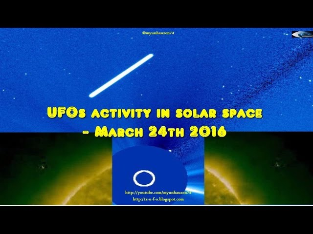 НЛО у Солнца 24 марта 2016