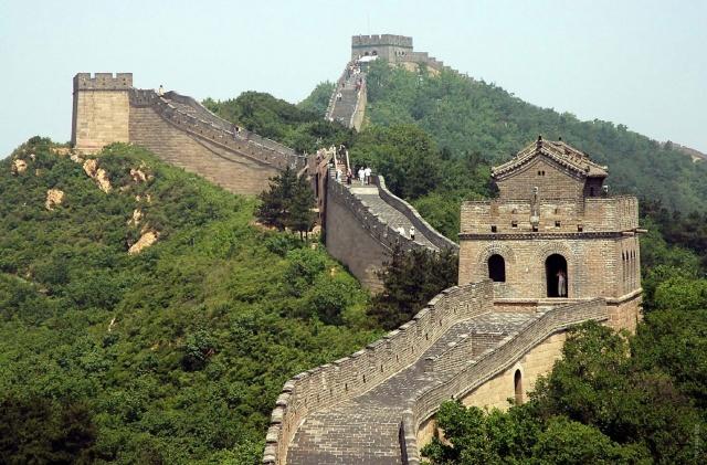 Потаенный участок Великой китайской стены.
