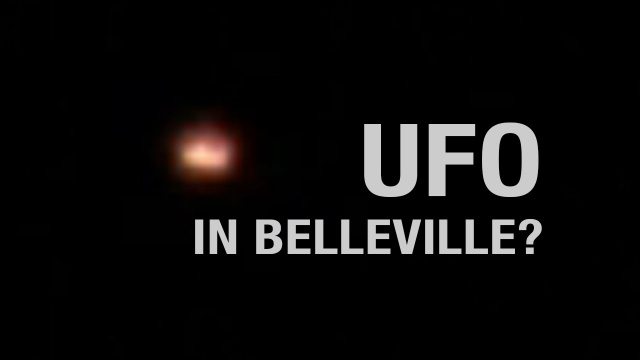 Красный шарообразный НЛО пролетел над городом Беллевиль
