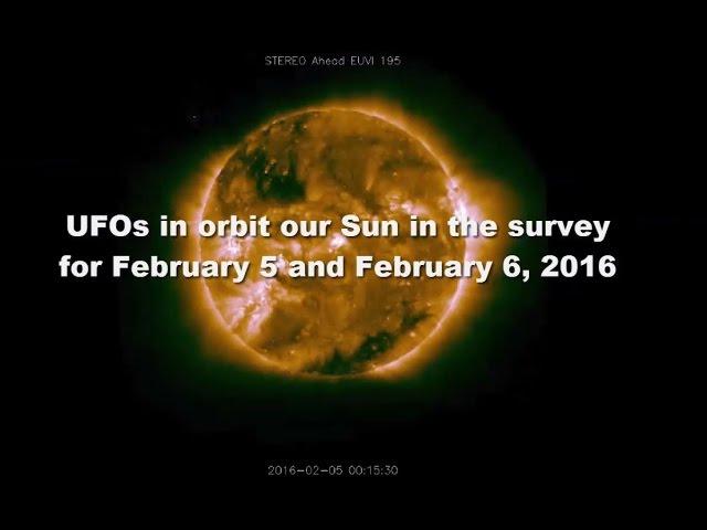 Видео НЛО рядом с Солнцем 5 И 6 февраля 2016