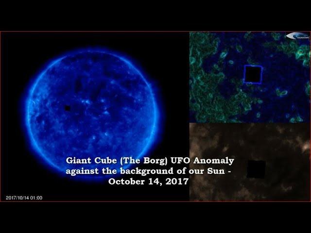 НЛО (Черный Куб) у Солнца 14 октября 2017