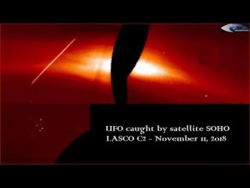 НЛО у Солнца 11 ноября 2018