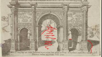 Гравюры Свидетели потопа. Автор гравюр Giovanni Antonio 1569
