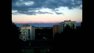 Полоса в небе в Витебске 15.06.2014