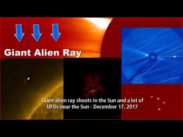 НЛО у Солнца 17 декабря 2017
