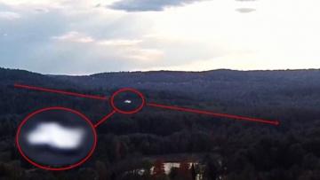Сверхбыстрый НЛО снят на камеру беспилотника над Милфордом, Нью-Гэмпшир