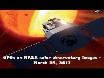 НЛО у Солнца 25 марта 2017