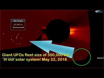 НЛО у Солнца 22 мая 2018