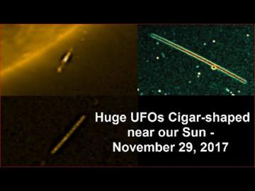 НЛО у Солнца 29 ноября 2017