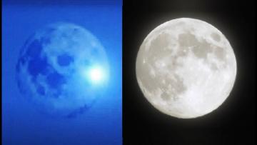 Луна вблизи. Что летает на фоне Луны?