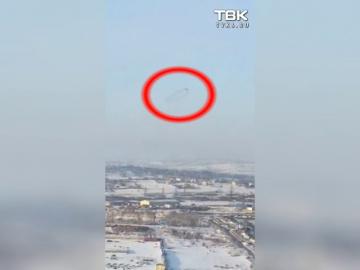 Необычные объект в небе над Красноярском