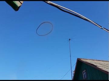 Странный круг в небе Казахстана