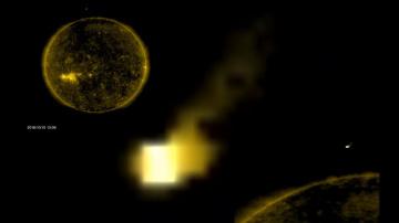 НЛО у Солнца 16 октября 2018