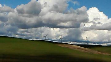 Видео НЛО над ветряками в штате Вашингтон