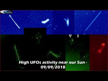 НЛО у Солнца 9 сентября 2018