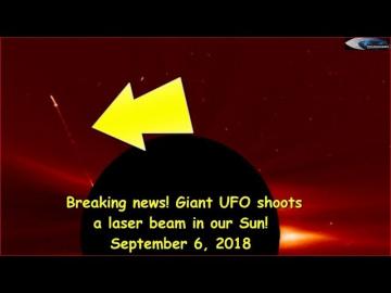 НЛО у Солнца 6 сентября 2018