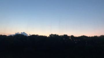 Странные полосы в небе г. Елец