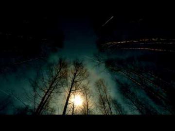Химтрейлы на ночном небе