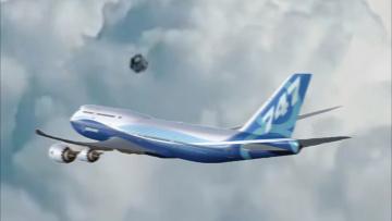Съемка пилотом НЛО в форме куба