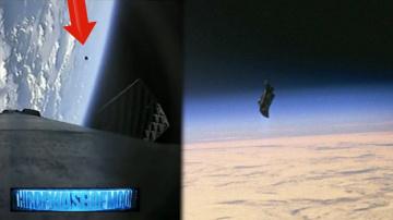 Ракета Falcon 9 пролетела около инопланетного спутника