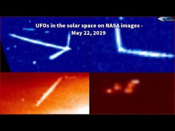 НЛО в солнечном пространстве на снимках НАСА - 22 мая 2019 года