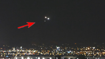 Группа НЛО в небе над Лас-Вегасом