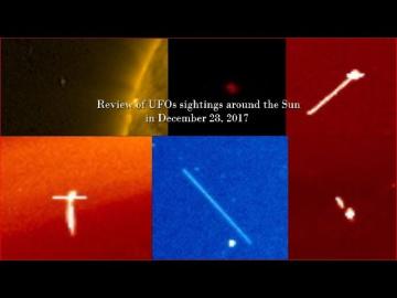 НЛО у Солнца 28 декабря 2017
