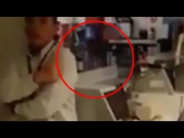 Призрачная девочка пробежала перед камерой в перуанском банке