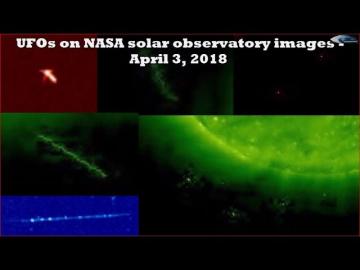 НЛО у Солнца 3 апреля 2018