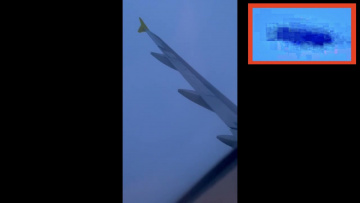 НЛО летел рядом с самолётом