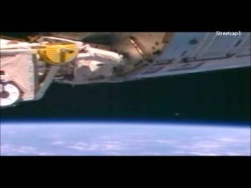 Видео НЛО в космосе рядом с МКС
