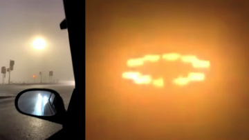 Похожее на Солнце НЛО в Северной Дакоте