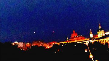 В Москве над Кремлем появились три НЛО