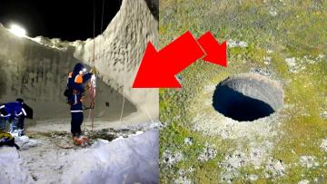 В Сибири появились странные провалы. Ямал уходит под землю?