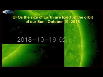 НЛО у Солнца 19 октября 2018