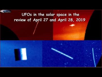 НЛО у Солнца 27 и 28 Апреля 2019