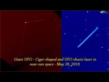 НЛО у Солнца 28 мая 2018