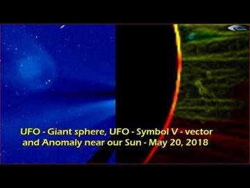 НЛО у Солнца 20 мая 2018