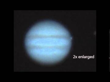 Столкновение неизвестного объекта с Юпитером