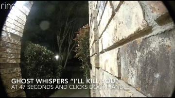 Дверная камера записала угрозы невидимки