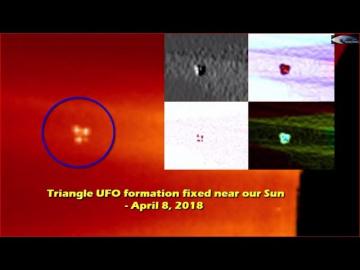 НЛО у Солнца 8 апреля 2018