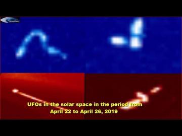НЛО в солнечном пространстве в период с 22 апреля по 26 апреля 2019 г.