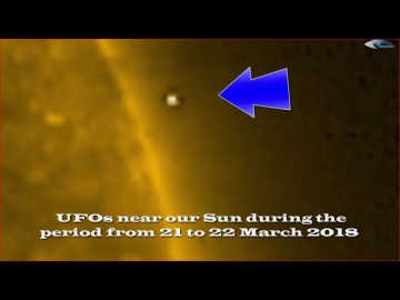 НЛО у Солнца 21 марта 2018