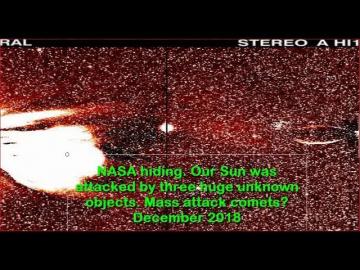 Солнце было атаковано тремя неизвестными объектами