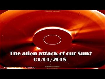 НЛО у Солнца 1 января 2018