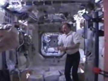 На борту космического корабля Атлантис