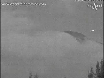 НЛО попал на камеру возле вулкана Попокатепетль
