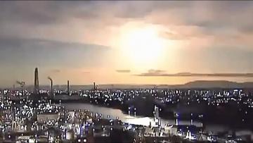 Метеорит озарил ночную Японию, 29 ноября 2020